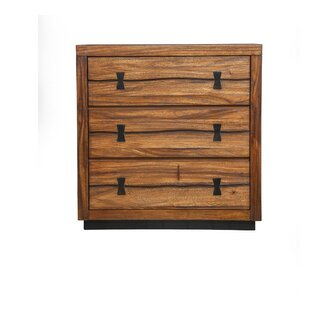 Bonniview Stylish Mahogany Wood 3 Drawer Chest by Foundry Select Great Reviews