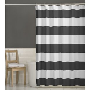 Gray Silver White Shower Curtains Youll Love