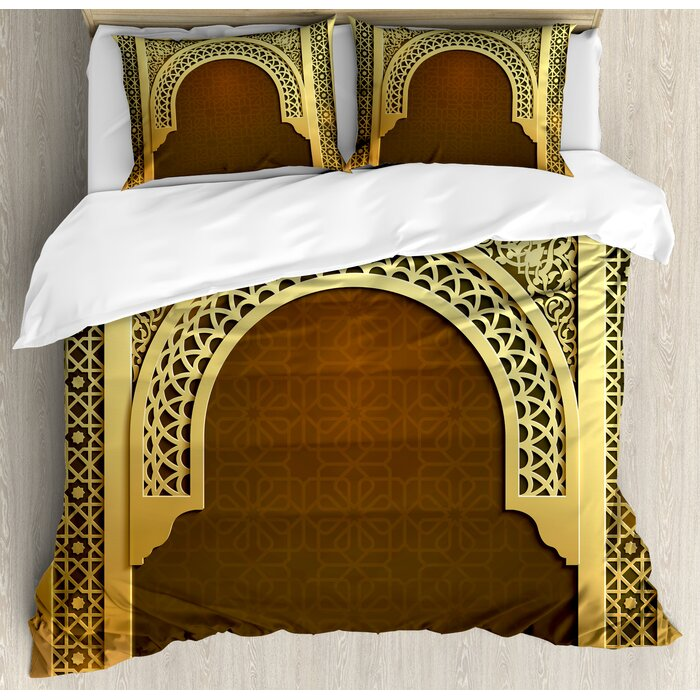 Moroccan Middle Eastern Theme Duvet Cover Set
