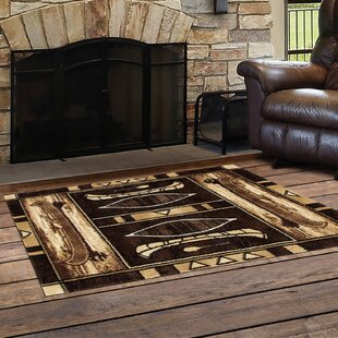 Vasser Native Canoe Beige/Brown Indoor/Outdoor Area Rug