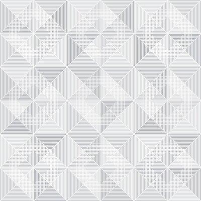 Brewster Home Fashions Wall Vision 33 x 20.9 Dabria Geometric Wallpaper Color: Gray