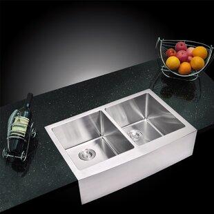 dCOR design Arlon Double Bowl Kitchen Sink