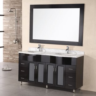 Lucca 61 Double Bathroom Vanity Set with Mirror by Home Loft Concepts