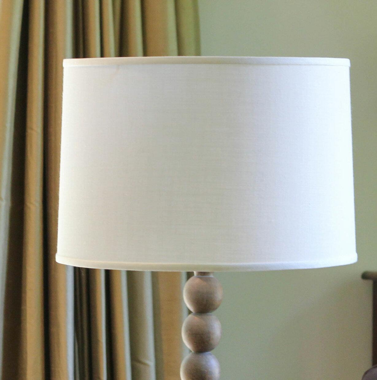 10 5 H X 15 W Linen Drum Lamp Shade Spider Reviews Birch Lane