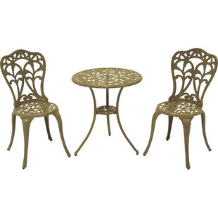 Flora 3 Piece Bistro Set by Meadow Decor