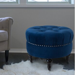Awe Inspiring Holmquist Tufted Round Standard Ottoman Andrewgaddart Wooden Chair Designs For Living Room Andrewgaddartcom
