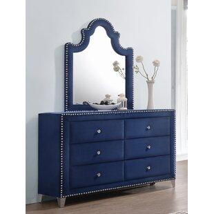 Rosdorf Park Malone 6 Drawer Double Dresser ..