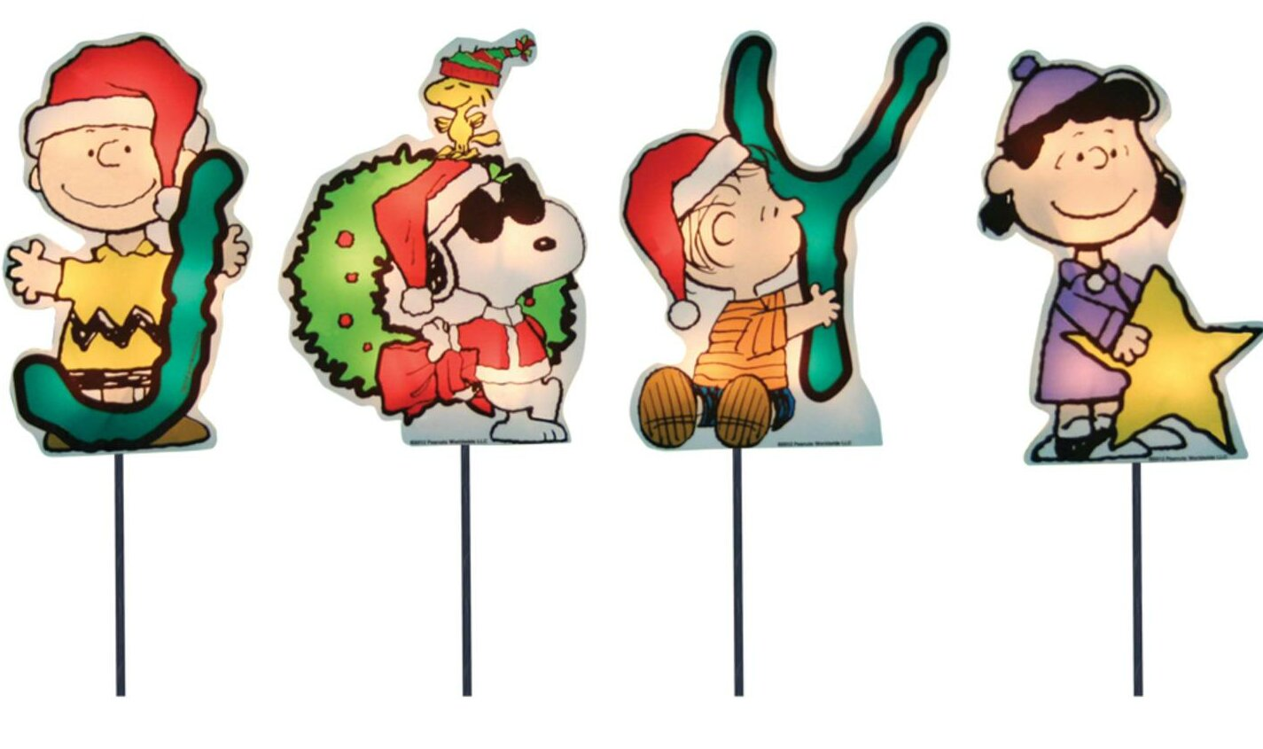 Snoopy Christmas Images.Joy Peanuts And Snoopy Christmas Pathway Lighted Display