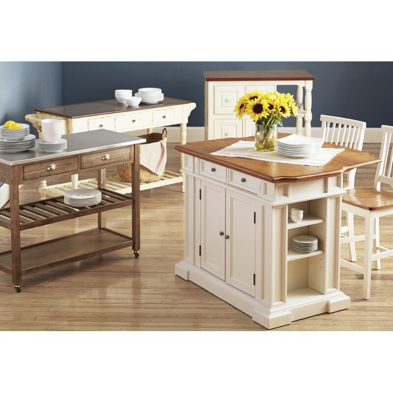 Darby Home Co Mattice 3 Piece Kitchen Island Set Wayfair