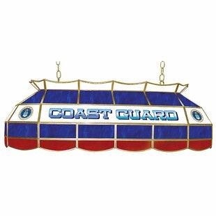 Trademark Global U.S. Coast Gaurd 3-Light Pool Table Light