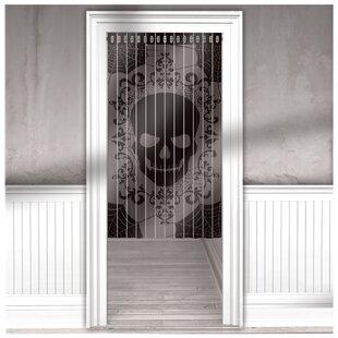 Halloween Lace Mesh Door Single Curtain Panel