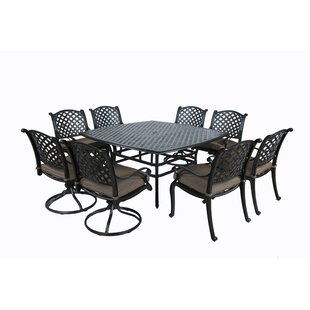 Darby Home Co Kempf 9 Piece Dining Set with Cushions