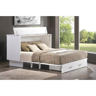 Pyper Marketing LLC Catherine Queen Storage Murphy Bed with Mattress
