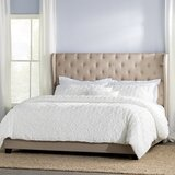 StowtheWold Tufted Solid Wood and Upholstered Standard Bed by Three Posts