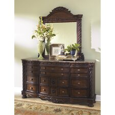 Chapell 12 Drawer Dresser with Mirror by Astoria Grand