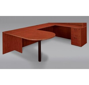 Fairplex Right / Left Grommet Holes And Wire Management Reversible U-Shape Executive Desk by Flexsteel Contract Comparison