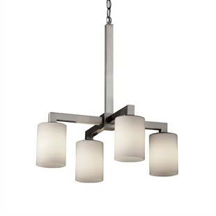 Brayden Studio Salinas 4-Light Shaded Chandelier