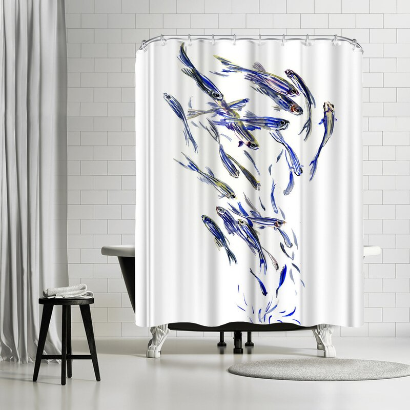 East Urban Home Suren Nersisyan Danio Fish Group 1 Single Shower Curtain Wayfair