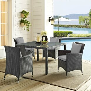 Tripp 5 Piece Dining Set with Sunbrella Cushions