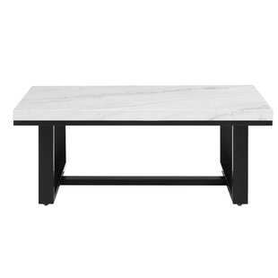Liverpool White Marble Top Cocktail Table With Tray Top