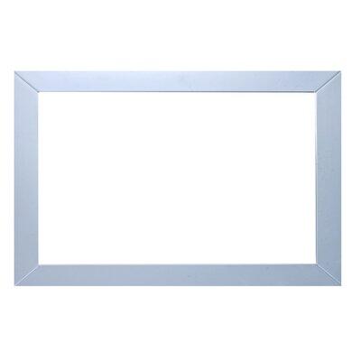 Brayden Studio Piccirillo Rectangle Framed Bathroom Wall Mirror Finish: Gray
