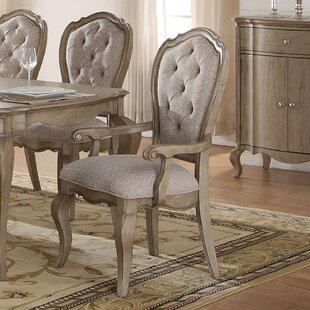 Donatella Traditional Upholstered Dining Chair (Set of 2) by One Allium Way