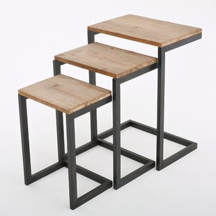 Modern nesting tables allmodern cetus 3 piece nesting tables watchthetrailerfo