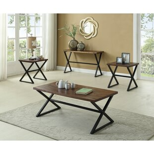 Carreras Distressed Wooden 3 Piece Coffee Table Set