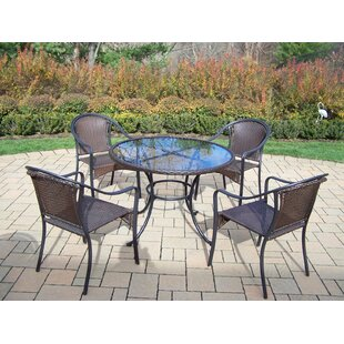 Kingsmill Coastal 5 Piece Steel Frame Dining Set