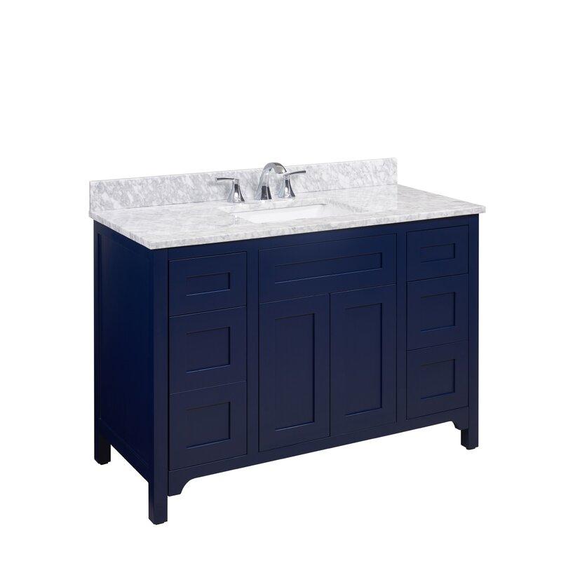 Altair Oristano 49 Single Bathroom Vanity Top In Carrara White With Sink Wayfair