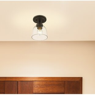 Kepner 1-Light Semi Flush Mount by Winston Porter
