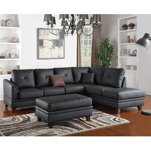 Danby Leather Reversible Sectional by A&J Homes Studio