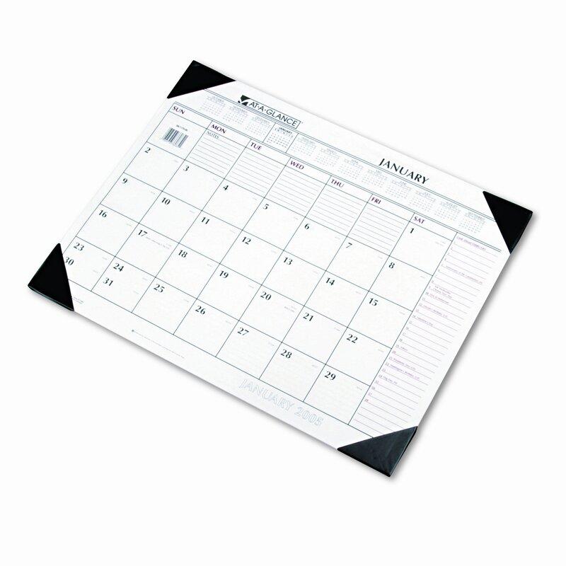 Monthly Desk Pad Calendar
