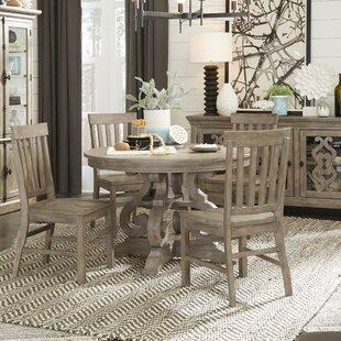Ellenton 5 Piece Solid Wood Dining Set by Greyleigh