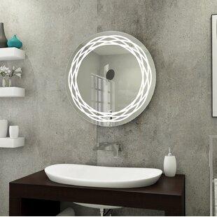 Best Reviews Rolland Front Lit Round Bathroom/Vanity Mirror ByHouse of Hampton