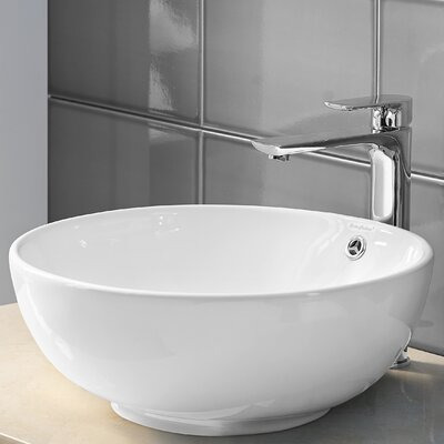 Plaisir Circular Vessel Bathroom Sink With Overflow