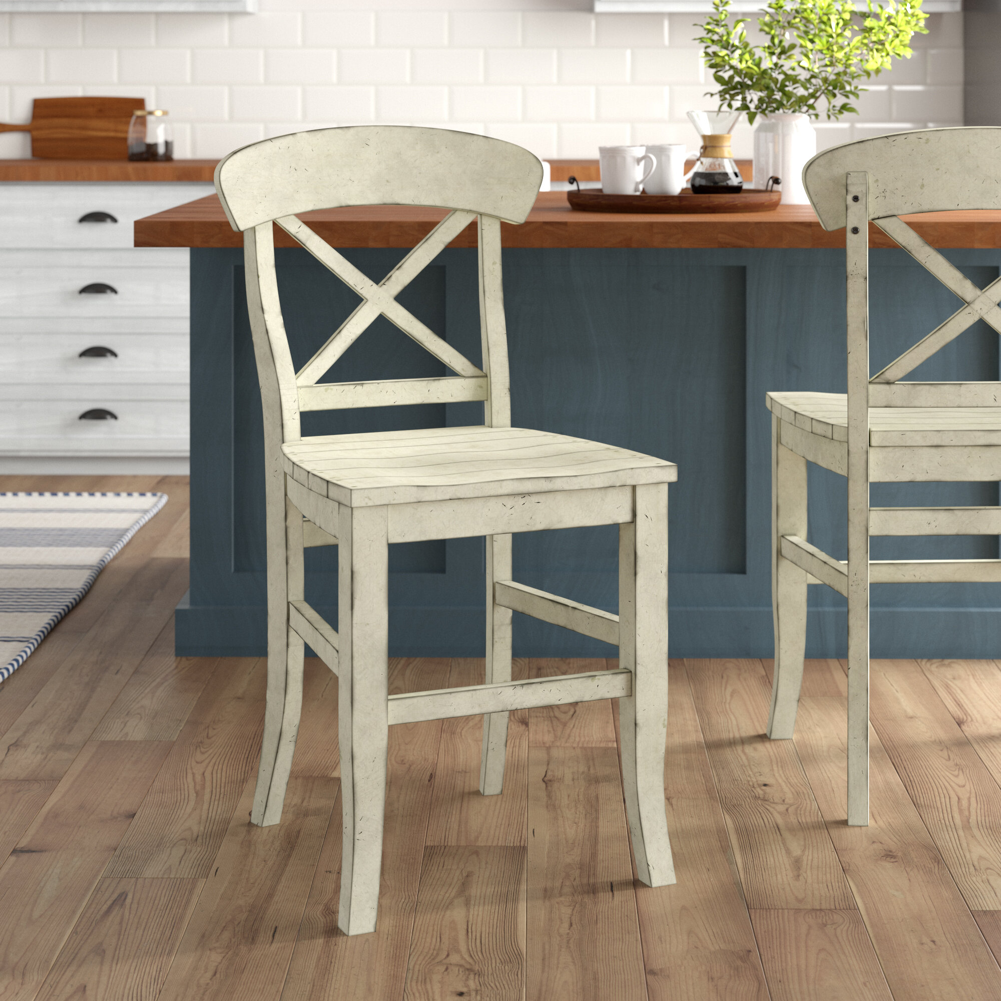 Picture of: Piedmont X Back Solid Wood 24 Counter Stool Reviews