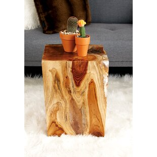 Teak and Resin Accent Stool by Cole & Grey