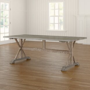 Lark Manor Cheve Solid Wood Dining Table