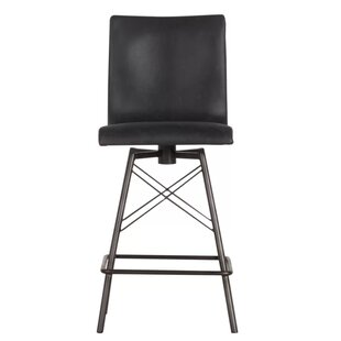 Sea view Swivel Bar Stool Brayden Studio