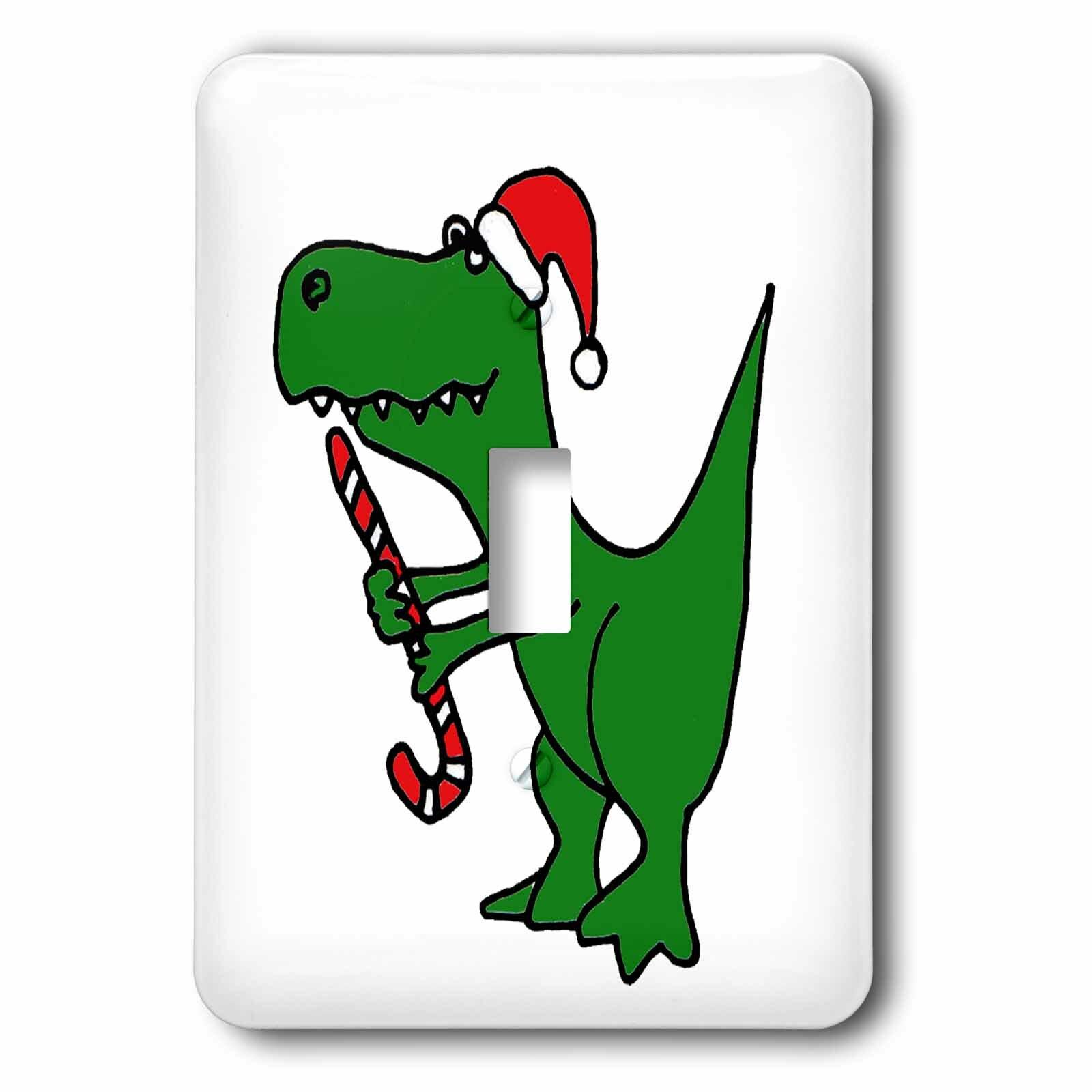 3drose Christmas T Rex Dinosaur 1 Gang Toggle Light Switch Wall Plate Wayfair