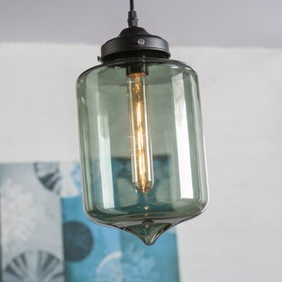 Gracie Oaks Ru 1-Light Jar Pendant