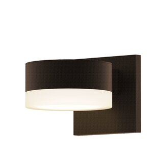 Comparison Algarin 1-Light LED Outdoor Armed Sconce By Latitude Run