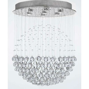 Everly Quinn Antoninus 7-Light Chrome Flush Mount