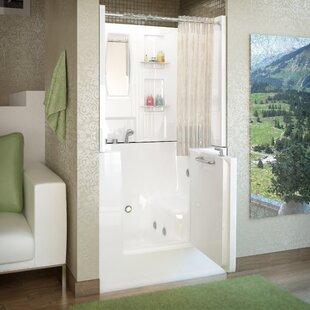 Best Price Mesa 40 x 31 Walk-In Whirlpool Bathtub ByTherapeutic Tubs