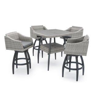 Castelli 5 Piece Sunbrella Bar Height Dining Set with Cushions by Wade Logan