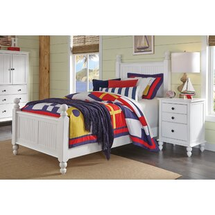 Dania Solid Wood Low Profile Standard Bed by Rosecliff Heights