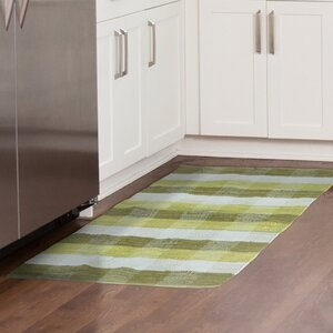 Brisbin Plaid Accent Hand-Woven Green Area Rug