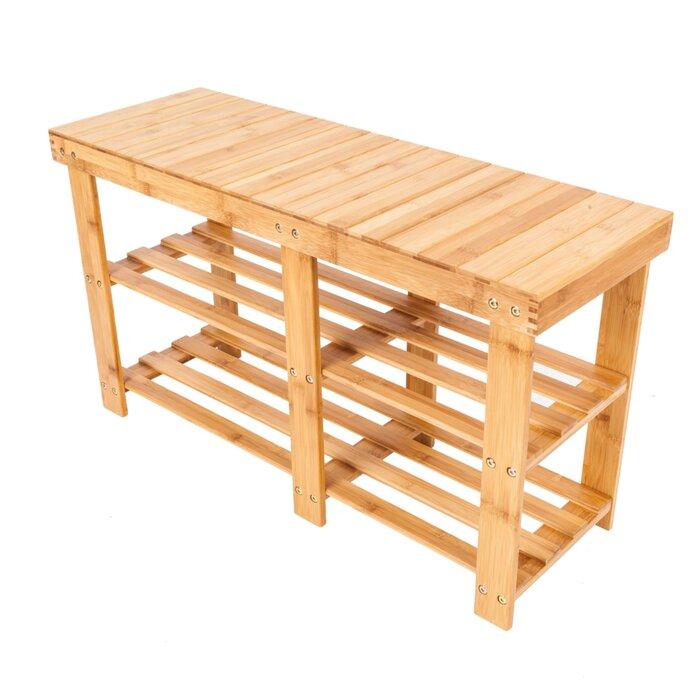 Remarkable Portable Flat Bamboo Splint 6 Pair Shoe Storage Bench Uwap Interior Chair Design Uwaporg
