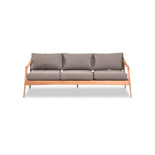 Hogue Teak Patio Sofa with Sunbrella Cushions